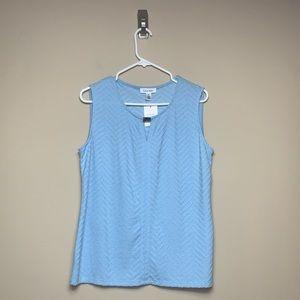 Womens NWT Calvin Klein Blue Textured Tank Top